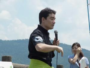 野口健さんから富士山清掃への想いが熱く語られて・・いざ出発